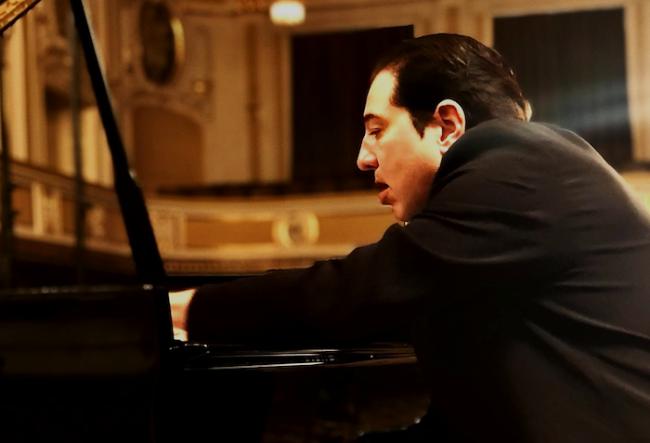 Fazıl Say recording at Mozarteum Salzburg in 2019