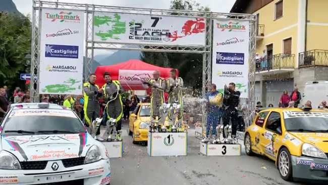 arrivo rally 2 laghi premiazioni 2021