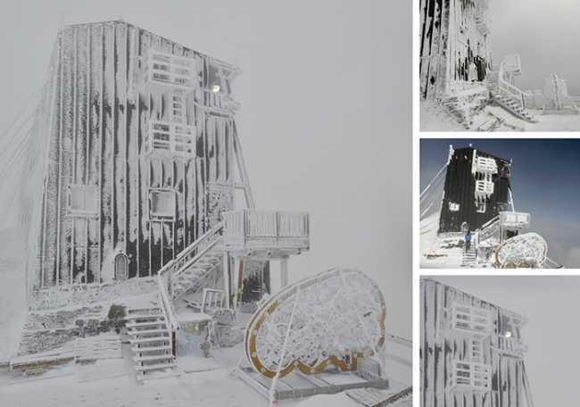 capanna margherita neve