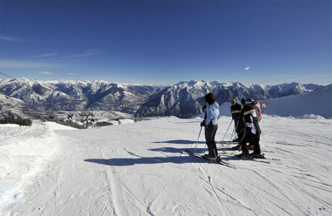 neveazzurra domobianca sci neve panorama montagne
