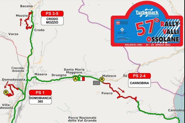rally valli 57 2021 percorso