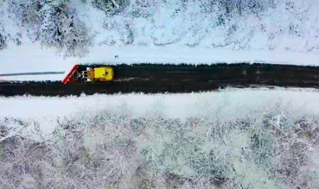 spazzaneve neve strada drone